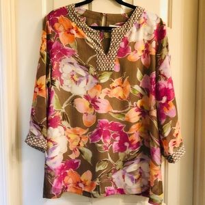 ALFRED DUNNER Floral Tunic